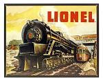Lionel Train - Tin Sign