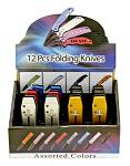 12 - pc. Folding Knife Display Set
