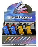 12 - pc. Switchblade Knife Display Set