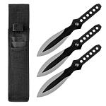 3 - pc. Tear Drop Throwing Knife Set - Black