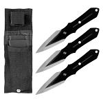 3 - pc. Traditional Stainless Steel Throwing Knife Set - Black