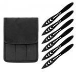 6 - pc. Diecut Throwing Knife Set - Black