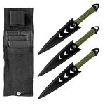 3 - pc. Arrowhead Throwing Knife Set - Black