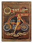 American Heritage Motorcycle Tin Sign