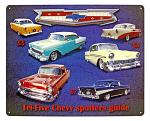 Tri-Five Chevy Spotters Tin Sign