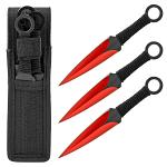 3 - pc. Throwing Knife Set - Red