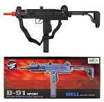 Well D-91 Sport Electric Powered Airsoft UZI Mac 11 Machine Gun