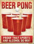 Beer Pong Tin Sign