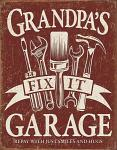 Grandpa's Garage Tin Sign