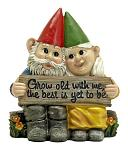 Growing Old Together - Garden Gnome Statue Figurine