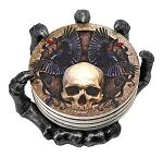 Helping Hand - Skull and Skeleton Coaster and Holder Set