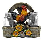 Country Diner - Rooster Napkin Salt and Pepper Shaker Holder