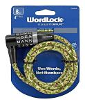 4 ft. Wordlock Bike Lock - Assorted Colors
