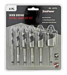 6 - pc. Wood Boring Stubby Auger Bit Set - True Power