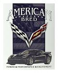 American Bred - Corvette Tin Metal Sign