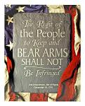 The Right to Bear Arms - 2nd Amendment Bill of Rights Tin Metal Sign