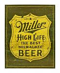 Miller Beer Metal Sign