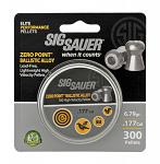 300 - ct. Zero Point Ballistic Alloy .177 Cal. Pellets - SIG SAUER