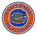 University of Florida Gators Logo Round Metal Tin Sign
