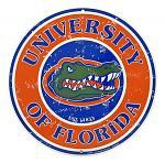 University of Florida Gators Logo Round Metal Tin Sign