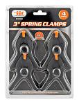 "3"" Hand Spring Clamp Set of 4 pieces - Illinois Industrial Tool"