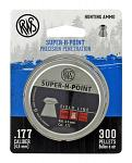 300 pc. RWS Super H Point Precision Hunting Ammo .177 Caliber Airgun Pellet Ammo