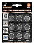 9-pc. 3V Lithium Coin Batteries