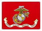 United States Marine Corps Metal Tin Sign