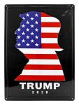 Trump 2020 President Trump Silhouette Metal Tin Sign