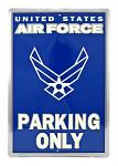 US Air Force Parking Only Tin Sign