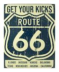 Get Your Kicks on Route 66 Vintage Advertising Metal Tin Display Sign