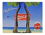 Think Summer Classic Coca Cola Beach Theme Metal Tin Sign - Coke