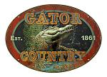 Gator Country Oval Tin Sign