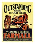 Farmall Tractor Metal Sign
