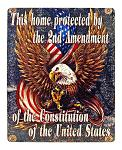 2nd Amendment Metal Sign