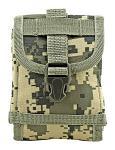 Space Force Tactical MOLLE Cell Phone Tech Pouch Carrier Vest Attachment - Digital Camo