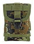 Space Force Tactical MOLLE Cell Phone Tech Pouch Carrier Vest Attachment - Green Digital Camo