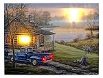 "16"" x 12"" LED Canvas Wall Art - Truck and Cabin"