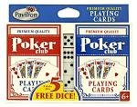Poker Club Playing Cards and Dice Set