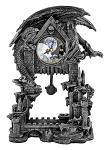 "13"" Dark Times Dragon Castle Clock with Pentagram Pendulum"