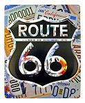 Route 66 License Plate Metal Sign
