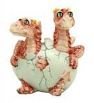 Drogon Dual Hatching Dragon Egg Statue Figurine