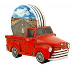 Keep on Truckin Vintage Pickup Truck Drink Cup Coaster Holder - DWK