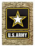 US Army Camo Metal Sign