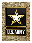 US Army Camo Metal Sign