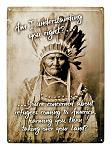 Refugees Coming to America Indian Chief Metal Sign