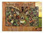 Tempered Glass Cutting Board - Deer in Woodland Camo