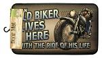 Old Biker Lives Here Door Mat