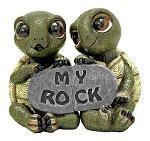 Rock Solid Love Turtle Statue Figurine