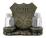 Route 66 Road Stop Diner - Vintage Café Napkin and Salt and Pepper Shaker Holder